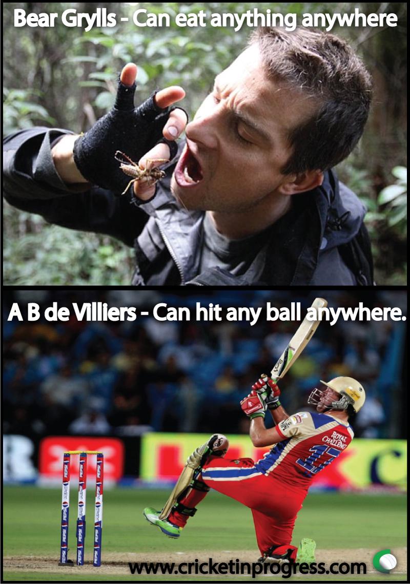Bear Grylls A B de Villiers