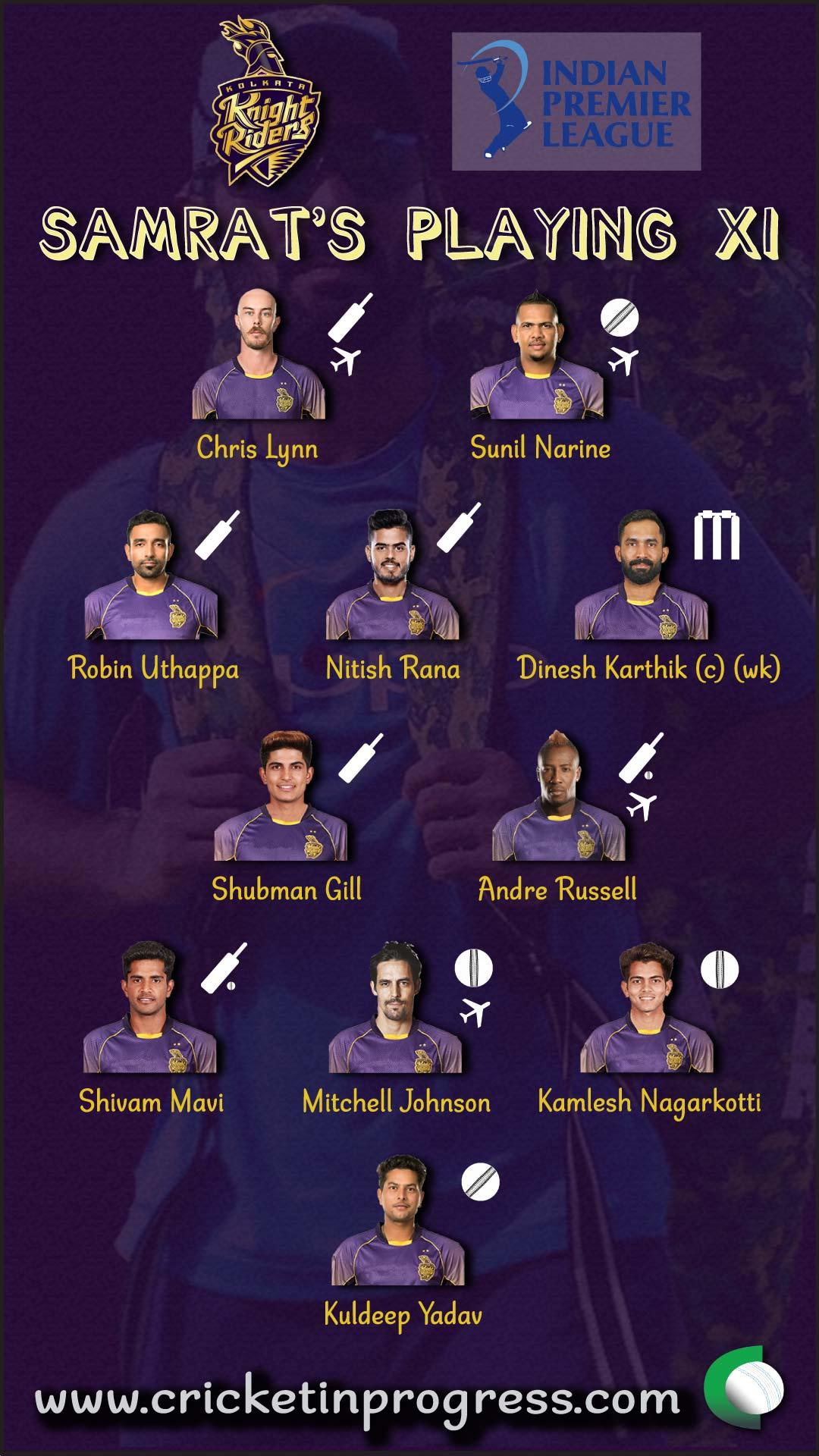 KKR Samrat Playing XI 2018