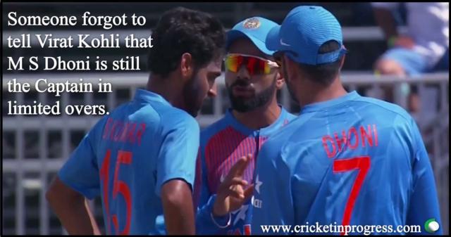 Kohli Forgot He Is Not Captain
