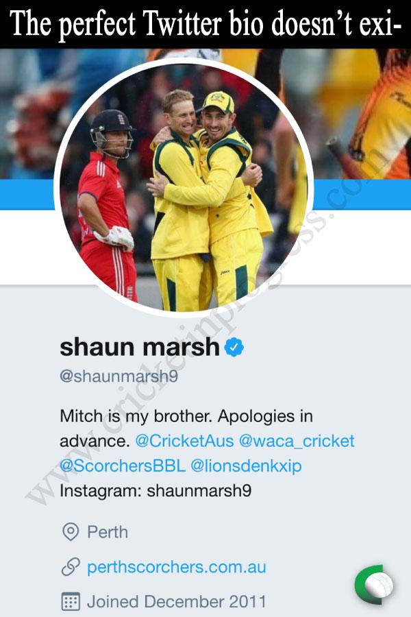 Shaun Marsh Bio